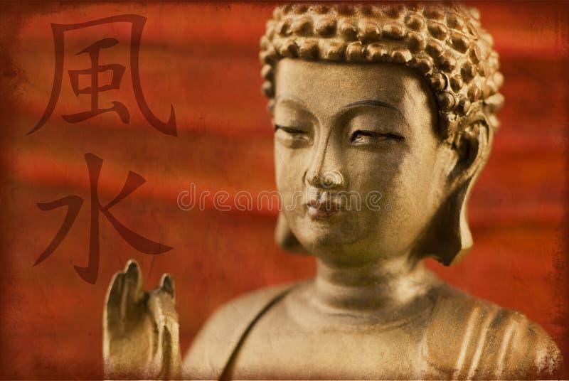 buddha fengshui royaltyfria foton