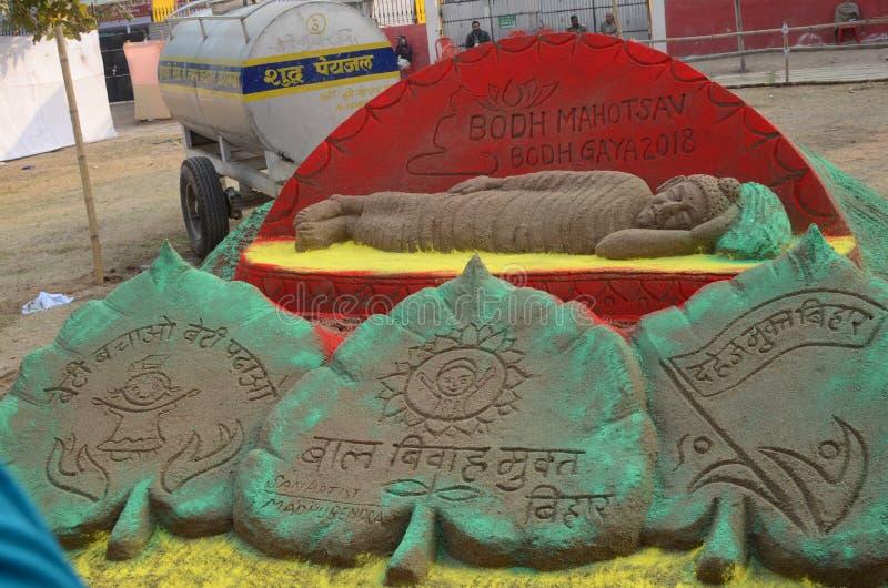 Buddha festival in Bodhgaya, bihar, India stock photo