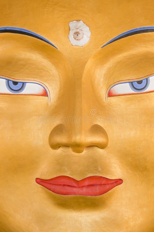 Buddha Framsida S Royaltyfri Foto