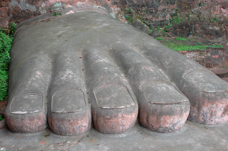 Buddha-Fuß stockfotos