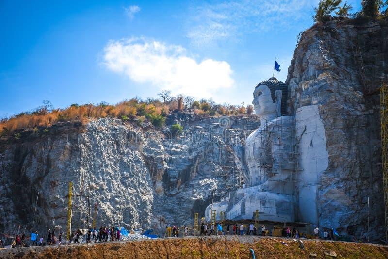 Buddha góra zdjęcia royalty free