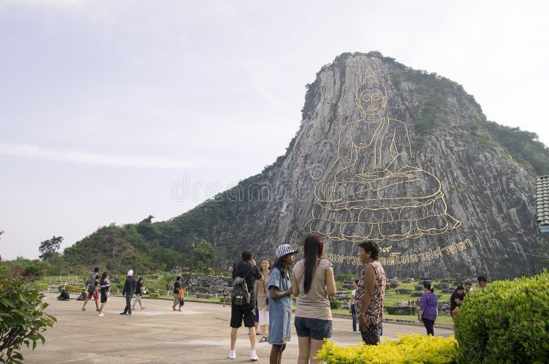 Buddha góra w Chonburi, Pattaya - Tajlandia zdjęcia royalty free