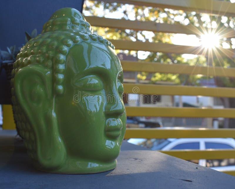 Buddha głowy statuy zakończenie up zdjęcia stock