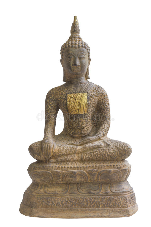 buddha gammal staty royaltyfri bild