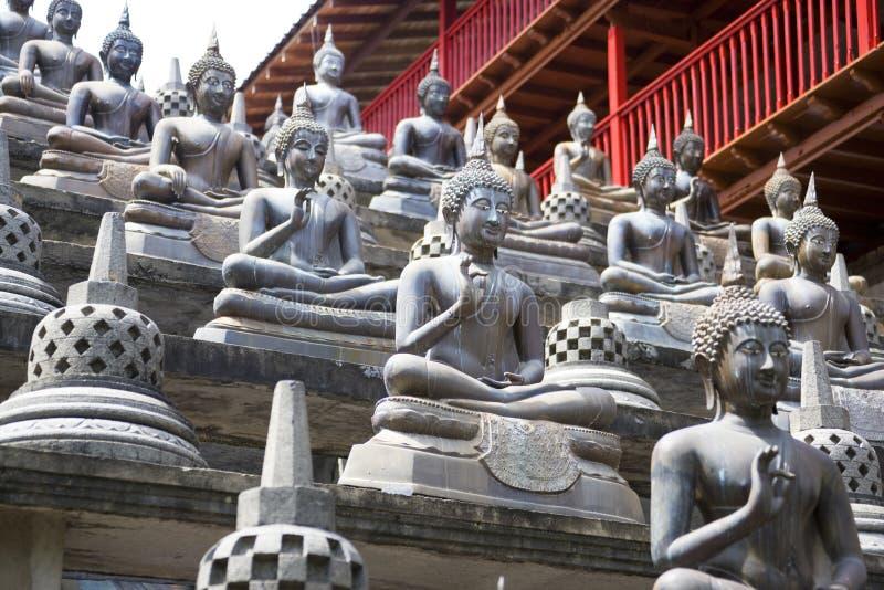 buddha gangaramaya statuy świątynne zdjęcie royalty free