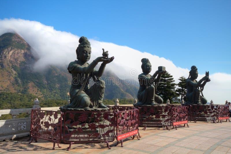 buddha geant wyspy lantau dębnik tian obrazy stock