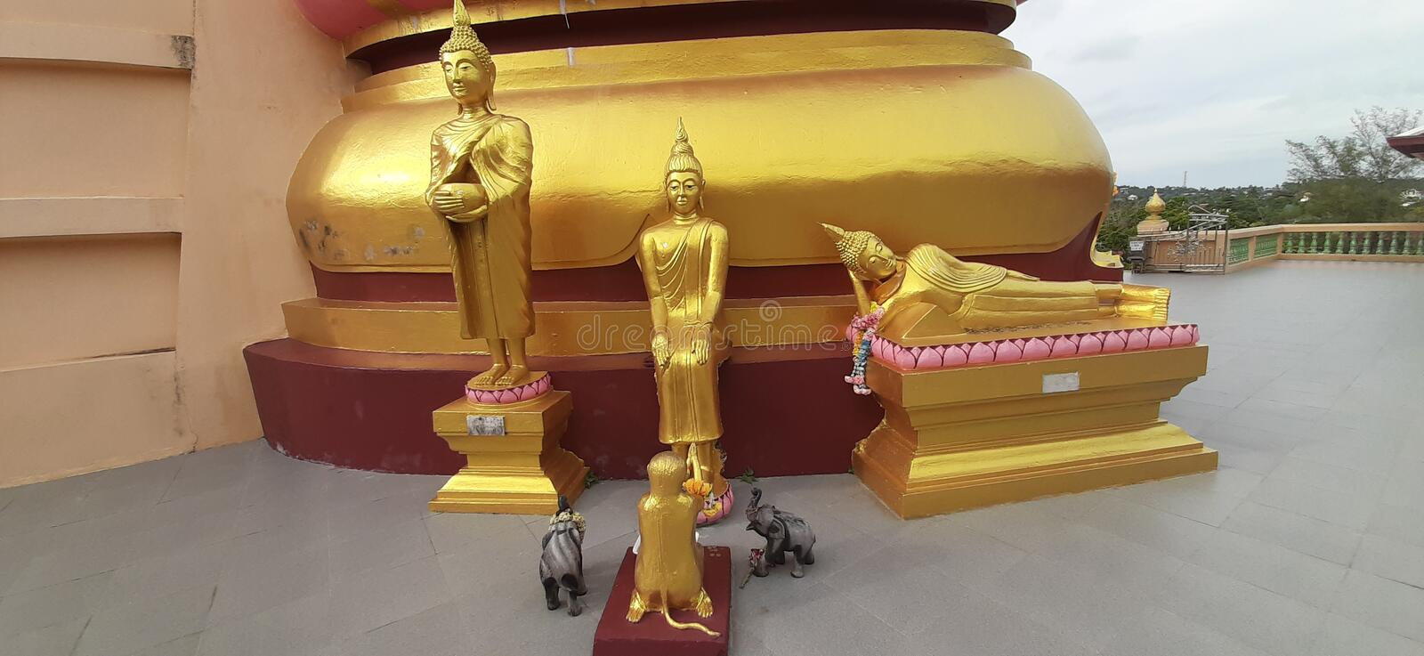 Buddha god gold almighty rich royalty free stock photography