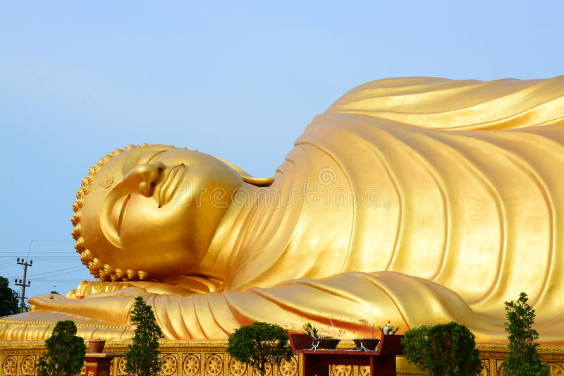 Buddha gold in thailand royalty free stock image
