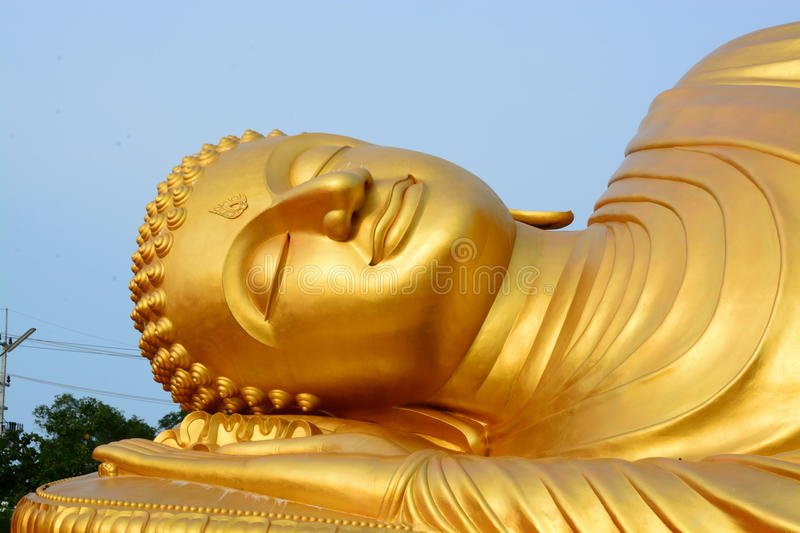 Buddha gold in thailand royalty free stock photos