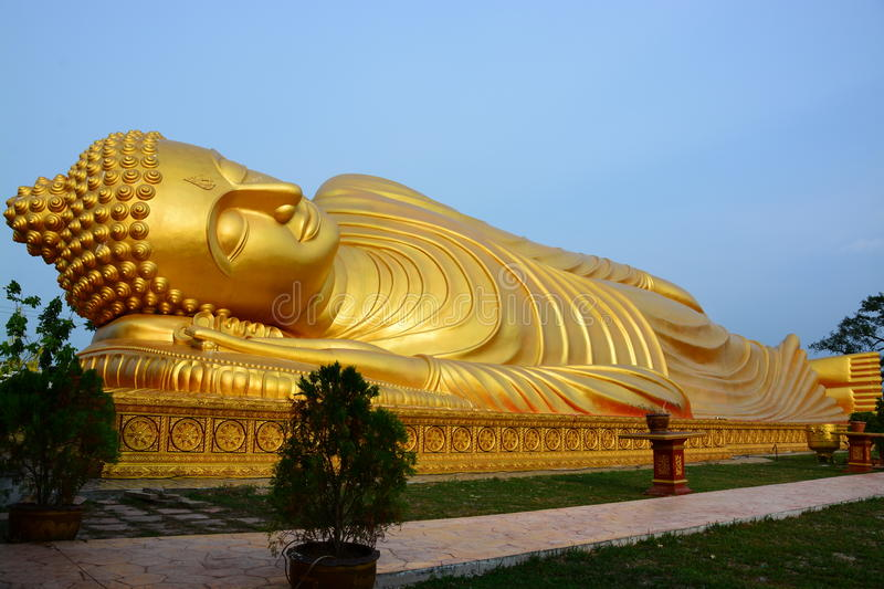 Buddha gold in thailand stock images