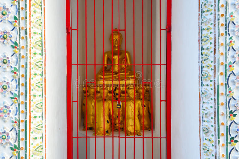 Buddha. Golden buddha in temple, Thailand royalty free stock photography