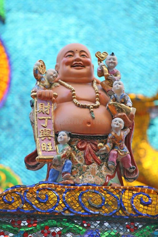 Buddha gordo, rindo imagem de stock royalty free