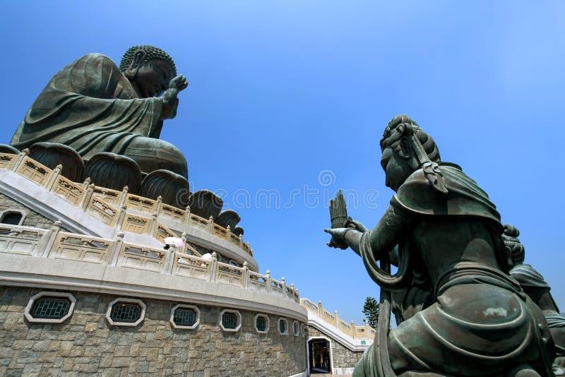 Buddha grande no monastério do Po Lin, Hong Kong fotos de stock