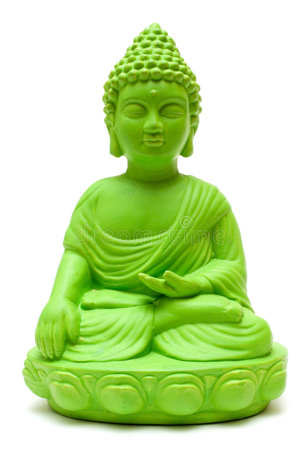 buddha green royaltyfria foton