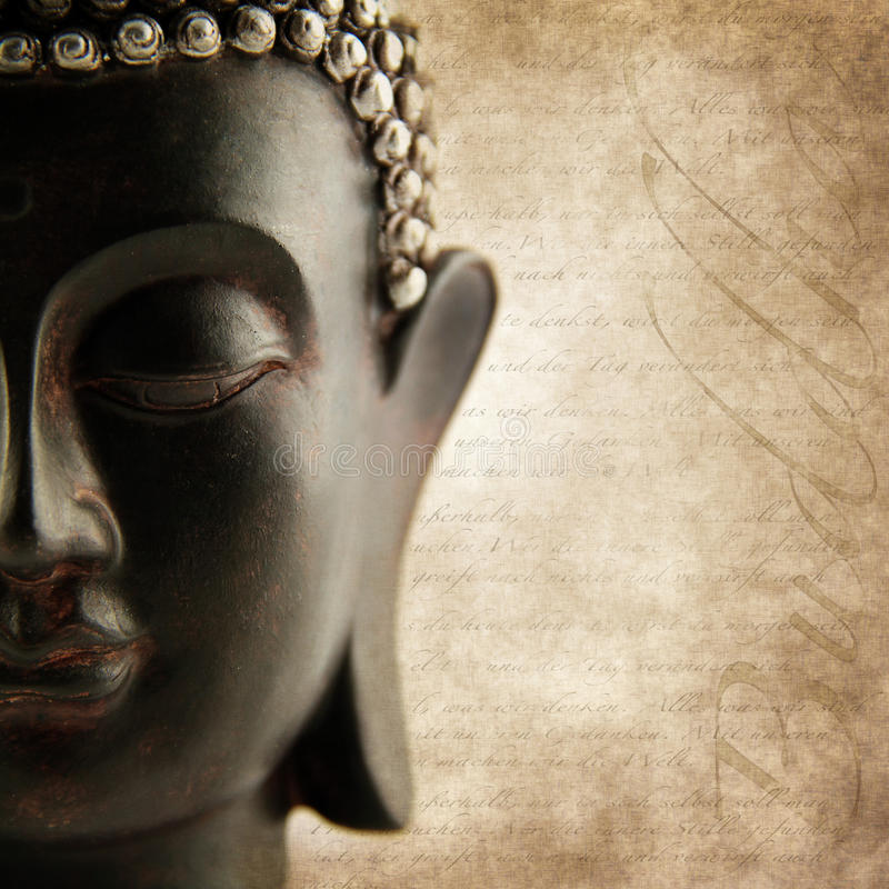 Download Buddha grunge words stock image. Image of religious, nobody - 25369581