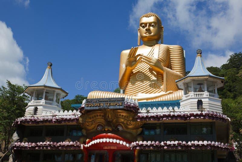 buddha guld arkivbild