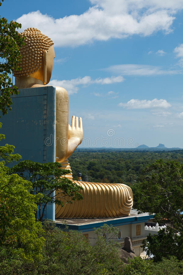 buddha guld arkivfoto