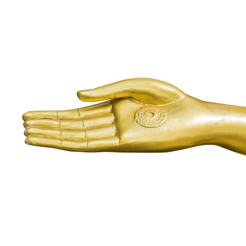 buddha guld- handstaty royaltyfri fotografi
