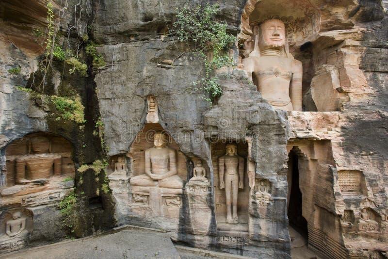 buddha gwalior jain india royaltyfri bild