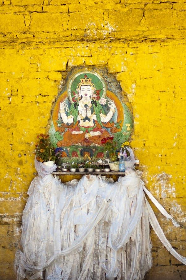 Buddha Hada i portret zdjęcie royalty free