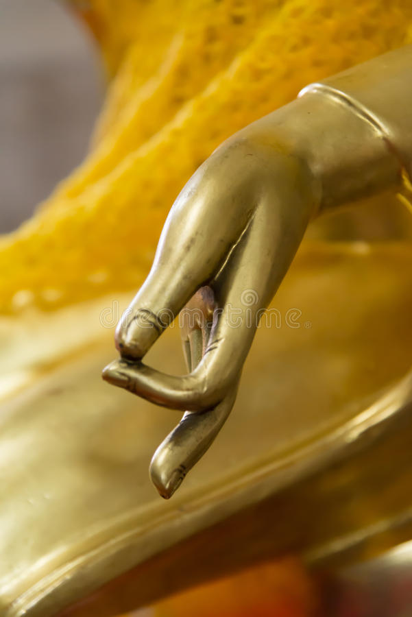 Buddha Hand With Peace Sign Symbol Stock Photo Image Of