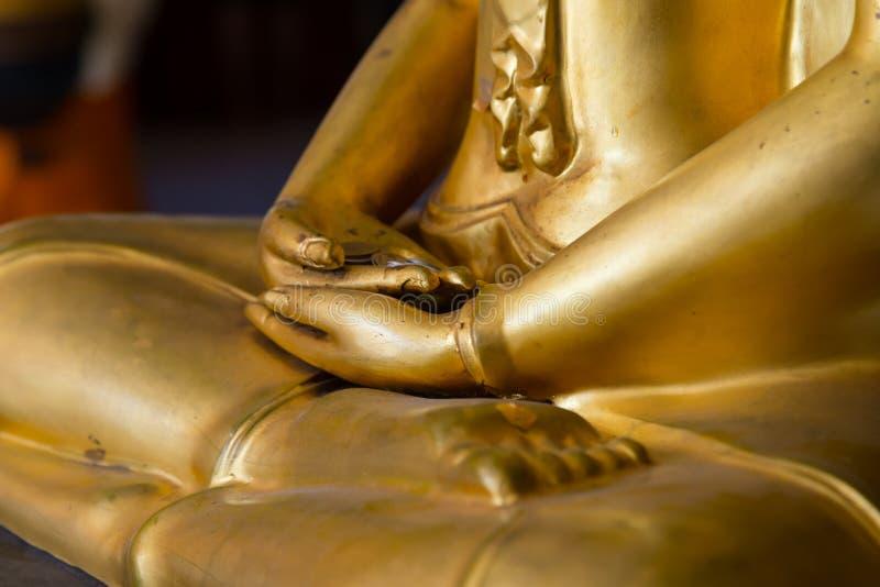 Buddha hands in mediation closeup stock photos