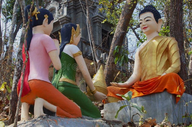 Buddha & hans elever royaltyfria bilder