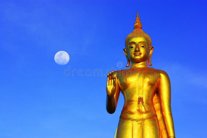 Buddha. At Hatyai, SongKha, Thailand royalty free stock image