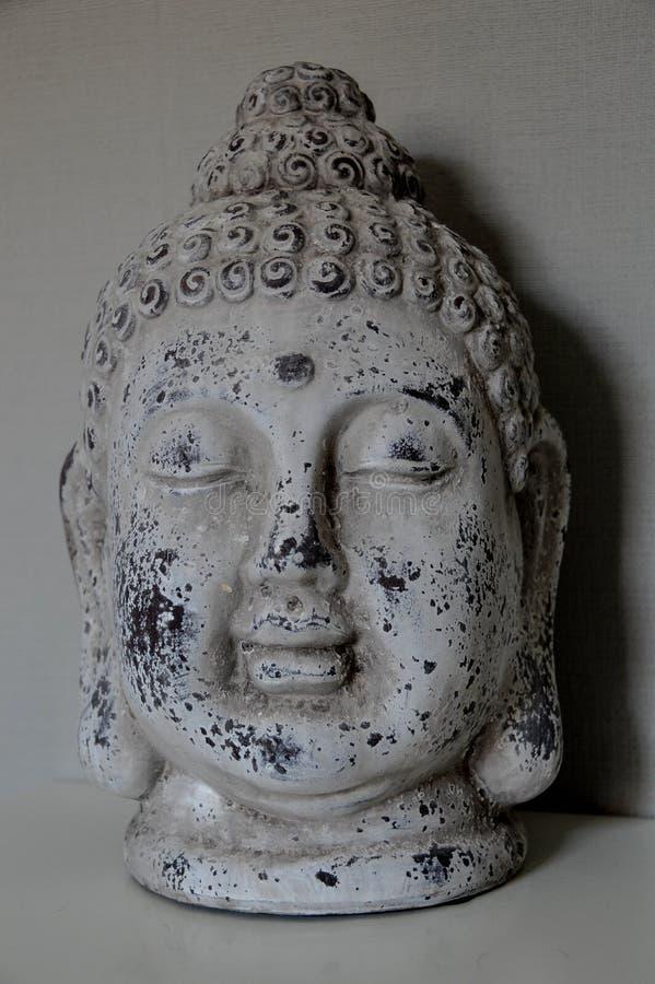 Buddha head interior decoration stock images