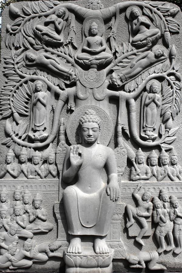 Buddha-hohe Entlastung lizenzfreie stockfotografie