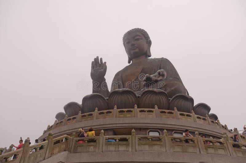 buddha Hong Kong lantaustaty royaltyfria foton