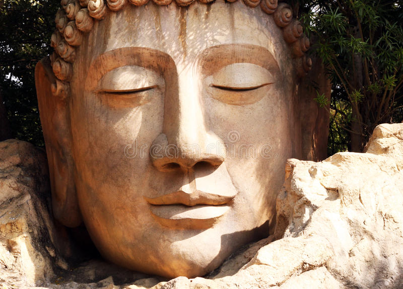 Buddha huvud royaltyfria foton