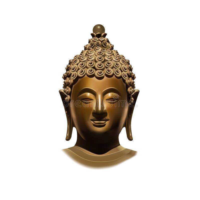 buddha huvud royaltyfri illustrationer