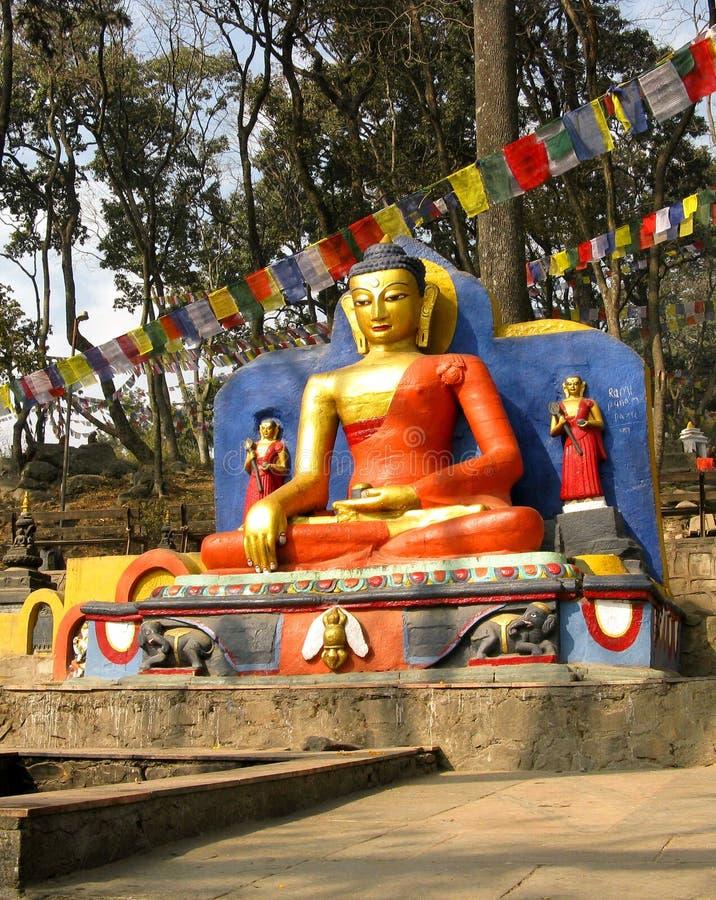Buddha i Nepal arkivfoton