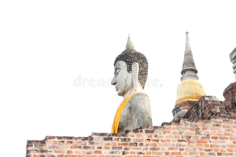 buddha idoso em AYUTHAYA Tailândia fotografia de stock royalty free