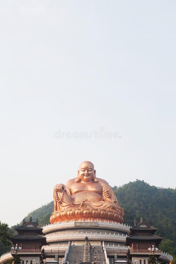 Buddha im Porzellan stockbild