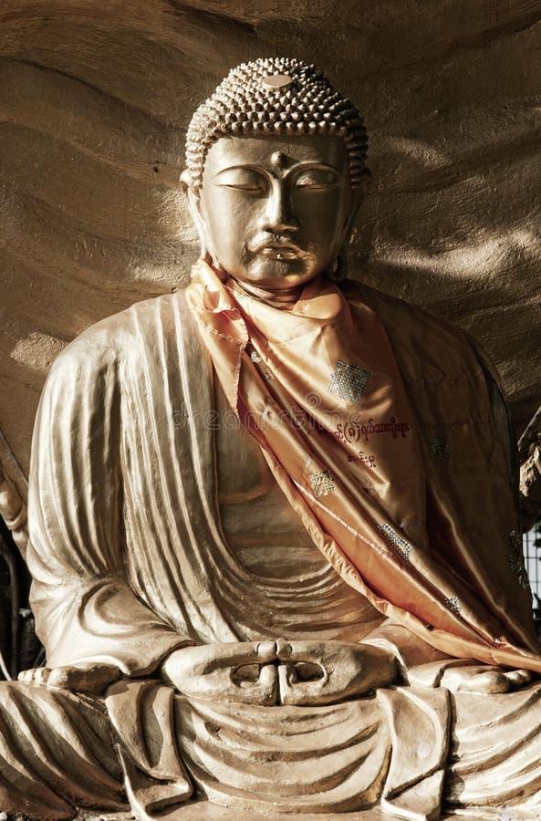 Buddha image in buddhist temple Myanmar Burma Yang royalty free stock photos