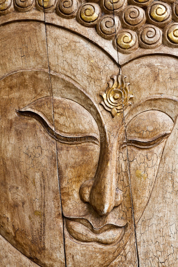 Free Buddha Image In Thai Style Wood Carving Royalty Free Stock Photography - 19907117