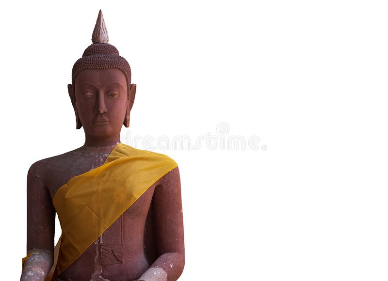 Buddha image used as amulets of Buddhism religion isolated on white background with clipping path. stock photography