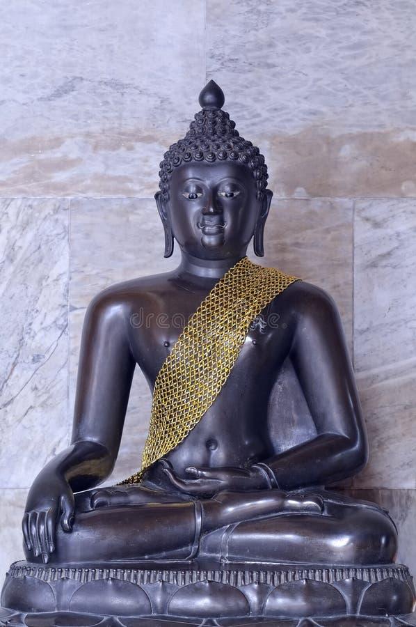 Buddha image in Wat Benchamabophit royalty free stock photo