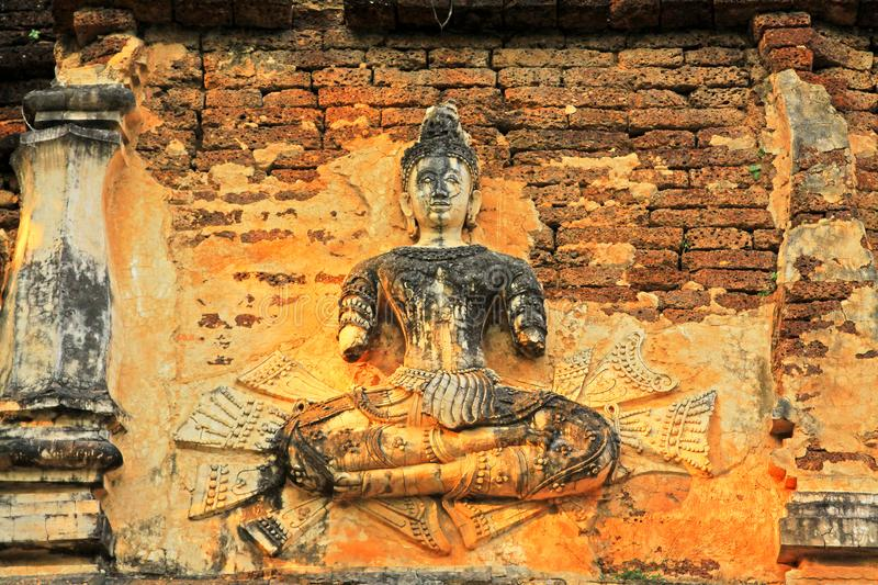 Buddha Image At Wat Jed Yod, Chiang Mai, Thailand. The Wat Jed Yod is an attractive Lanna era temple complex in the outskirts of Chiang Mai that contains some royalty free stock photo