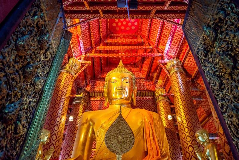Buddha image in Wat Phanan Choeng temple. In Ayutthaya, Thailand royalty free stock photos