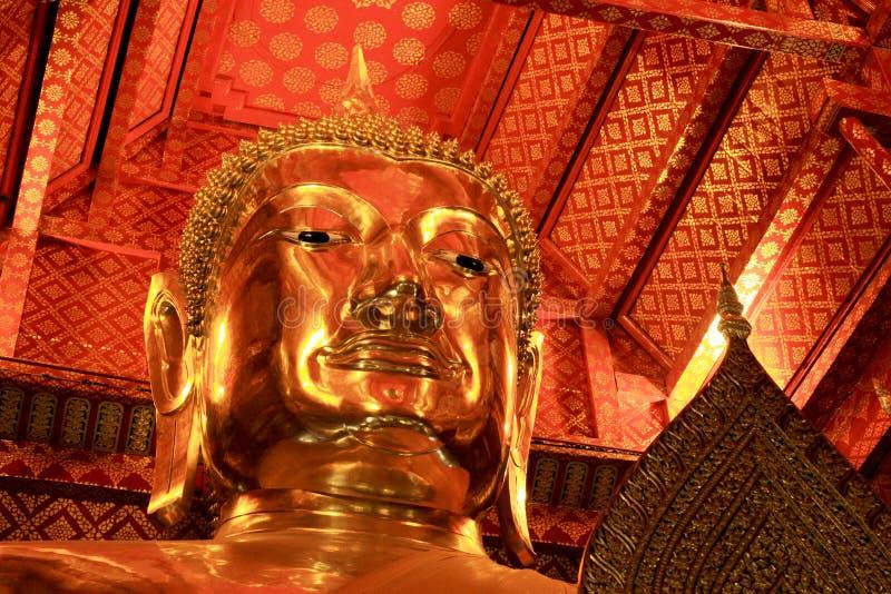 Buddha Image In Wat Phanan Choeng Worawihan, Ayutthaya, Thailand. Wat Phanan Choeng is a Buddhist temple in the city of Ayutthaya, Thailand. Built in 1324, some stock photography