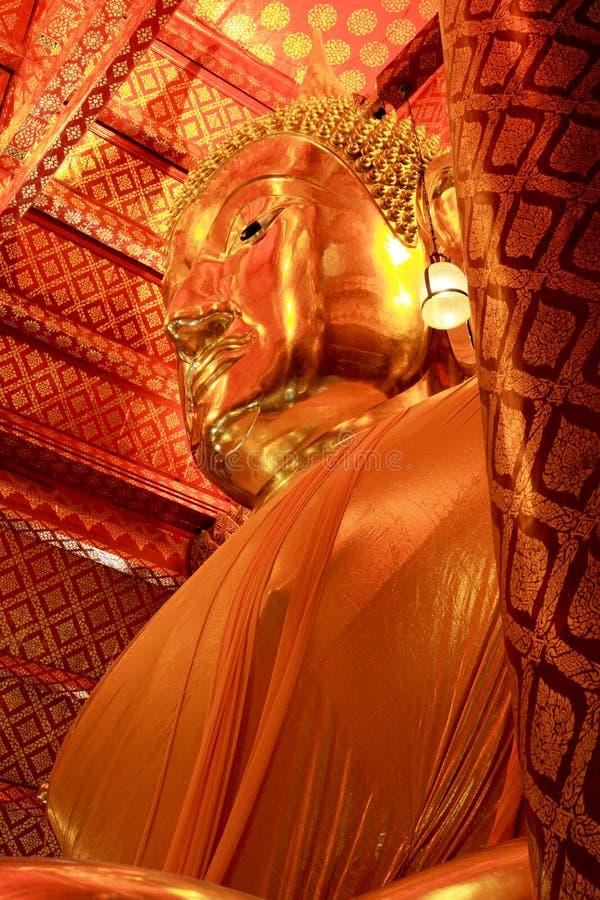 Buddha Image In Wat Phanan Choeng Worawihan, Ayutthaya, Thailand. Wat Phanan Choeng is a Buddhist temple in the city of Ayutthaya, Thailand. Built in 1324, some royalty free stock photos