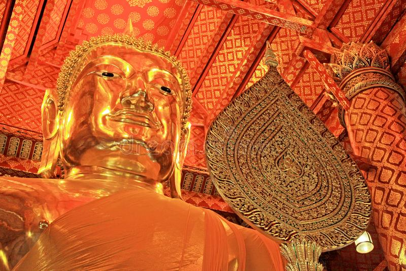 Buddha Image In Wat Phanan Choeng Worawihan, Ayutthaya, Thailand. Wat Phanan Choeng is a Buddhist temple in the city of Ayutthaya, Thailand. Built in 1324, some royalty free stock images