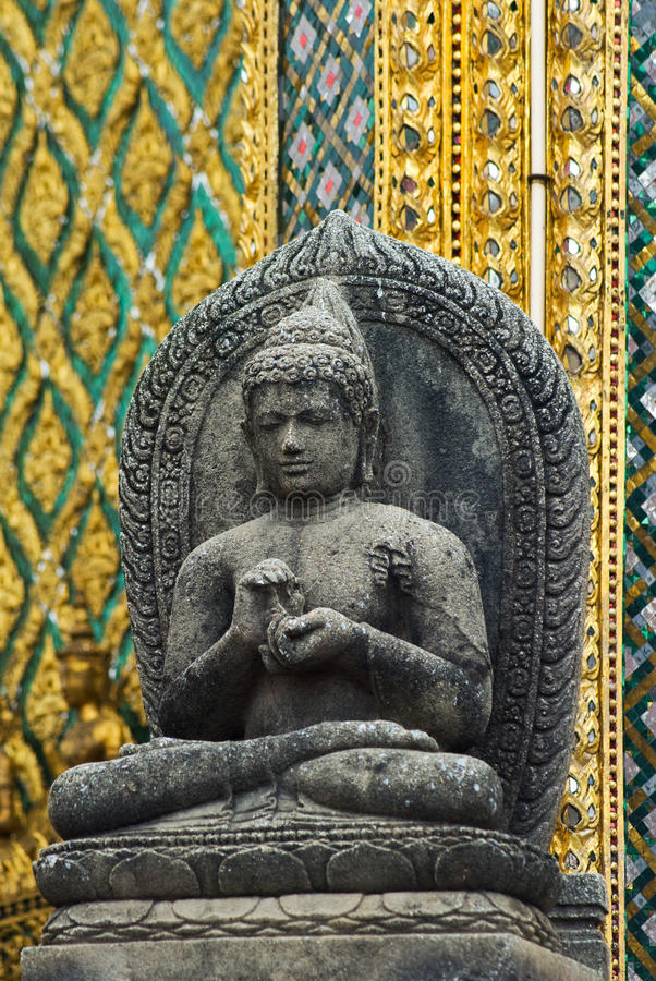 Buddha image at Wat Phra Kaeo in Bangkok royalty free stock image