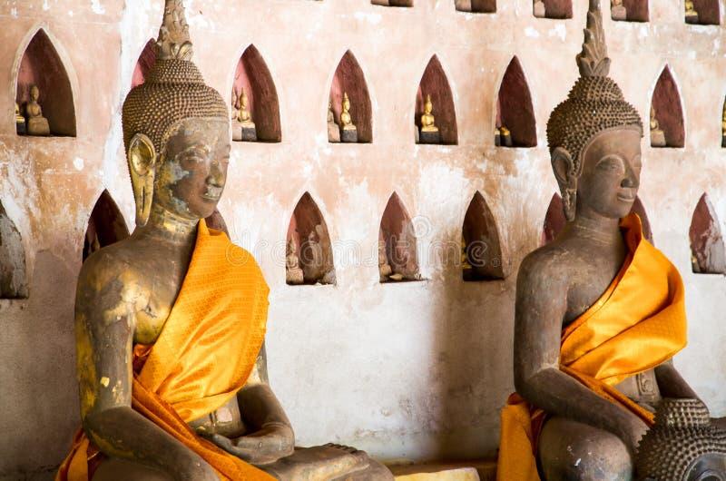 Buddha image Wat Si Saket temple is an ancient Buddhist temple in Vientiane. Wat Si Saket is a Buddhist wat in Vientiane, Laos. It is situated on Lan Xang Road stock image