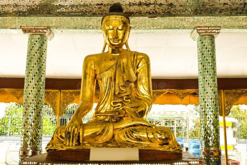 Buddha images around  the Shwedagon Pagoda Yangon, Myanmar. Myanmar art statue Unique, beautiful, outstanding stock photo