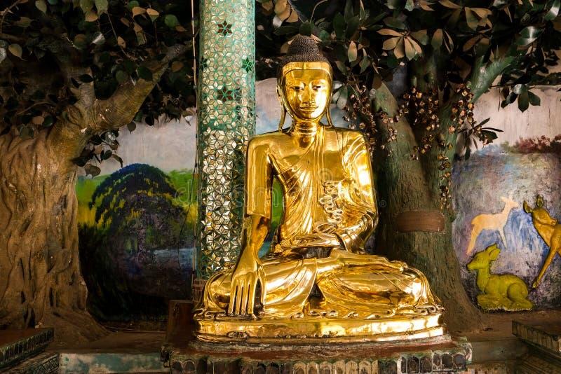 Buddha images around  the Shwedagon Pagoda Yangon, Myanmar. Myanmar art statue Unique, beautiful, outstanding royalty free stock photo