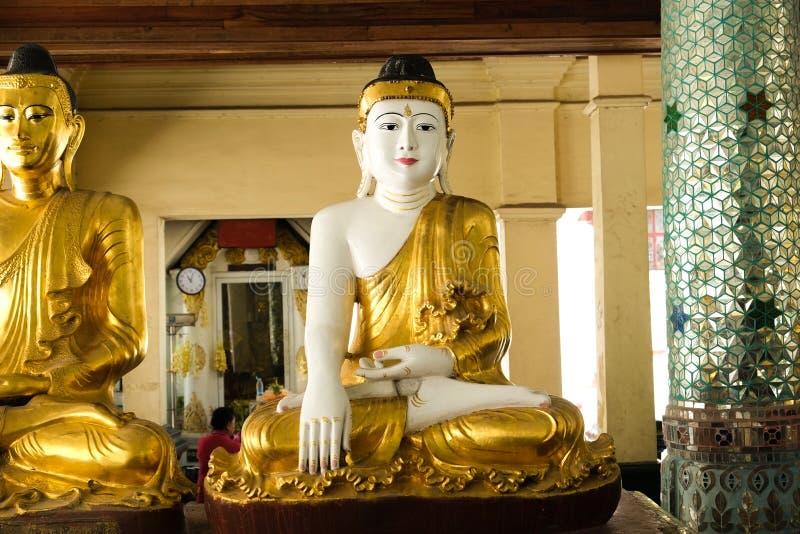 Buddha images around  the Shwedagon Pagoda Yangon, Myanmar. Myanmar art statue Unique, beautiful, outstanding royalty free stock photography